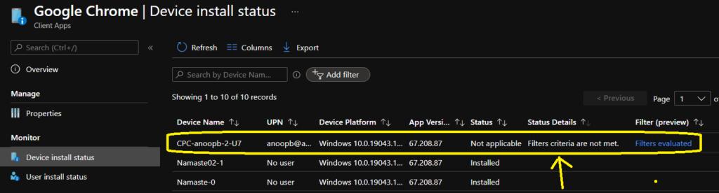 Create a Filter Rule for Windows 365 Cloud PCs using Intune 1