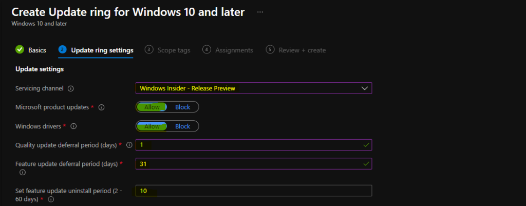 Windows 10 to Windows 11 Upgrade using Update ring policy is NOT Possible