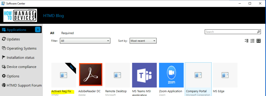 Deploy Registry fix application using SCCM