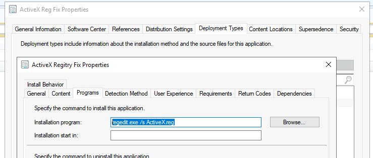 SCCM FIX: Deploy Registry File Installation Program