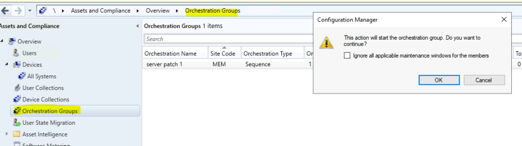 SCCM Orchestration groups for Microsoft Server 21H2 patching - Enable Patching for Server 2022 using SCCM