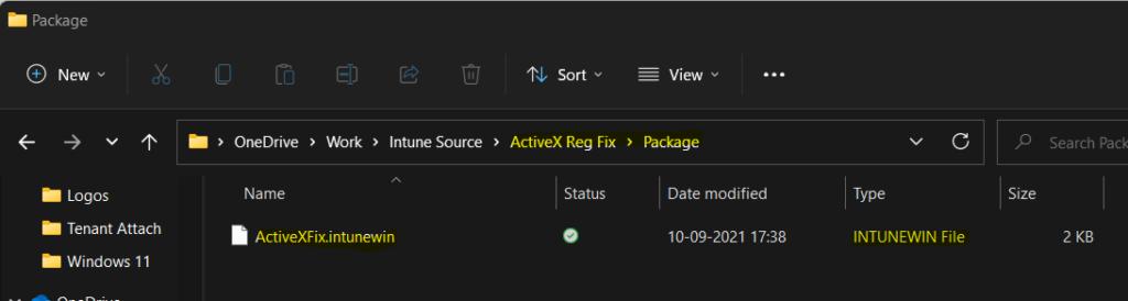 Deploy Registry Fix using Intune Win32 App