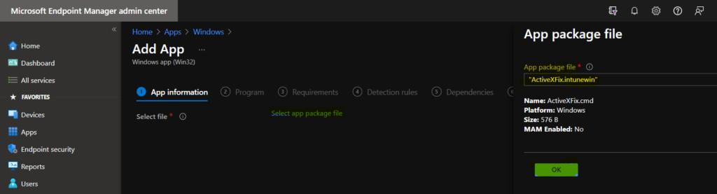 Deploy Registry Fix using Intune Win32 App 3