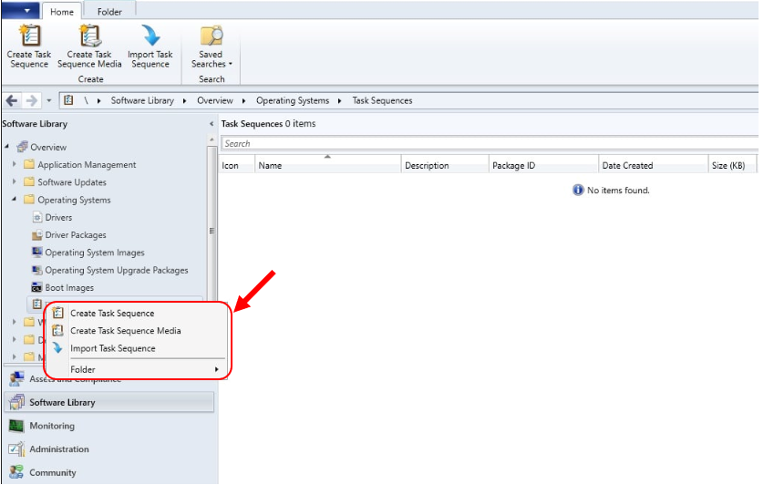 Create MDT Task Sequence Missing from SCCM Console