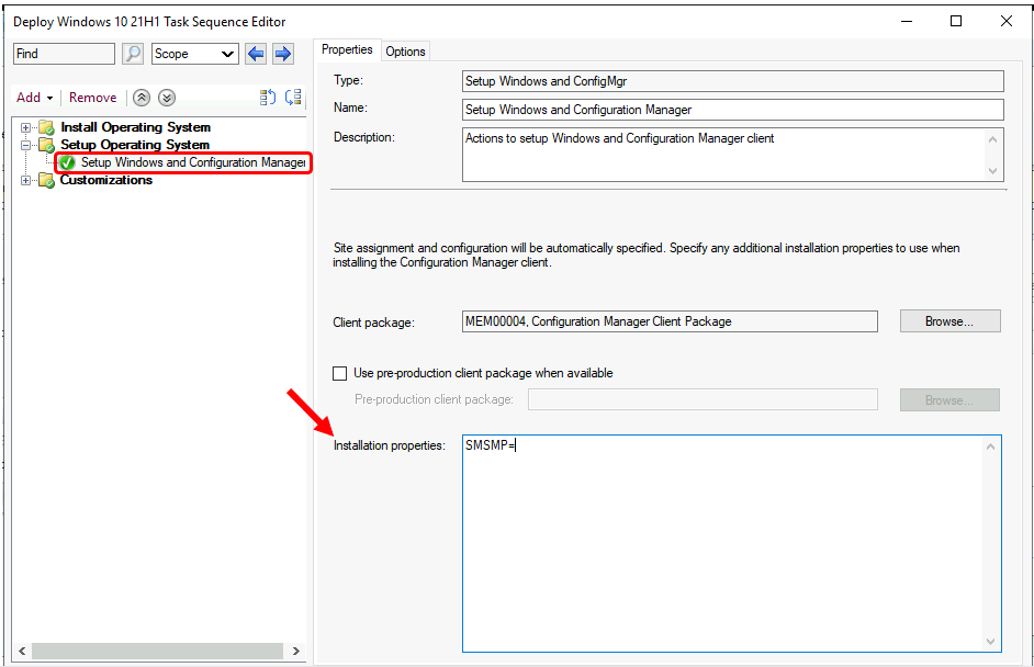 SCCM Task Sequence Step: FIX -Task Sequence failed with error code 0x87d00269