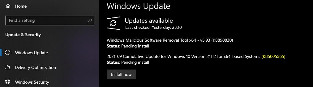 Windows 10 KB5005565 September Cumulative Update Released SCCM Intune Methods to Deploy