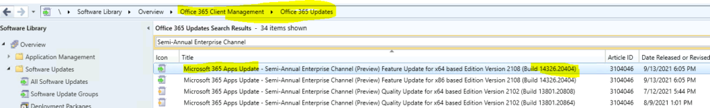 SCCM WSUS Office Updates Sync Failed with Error 400