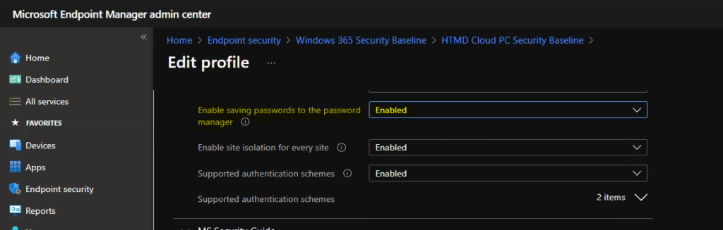 Troubleshoot Microsoft Edge Security Policy
