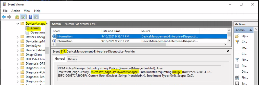 Check Event Logs to Troubleshoot Microsoft Edge Security Policy Deployment Issue