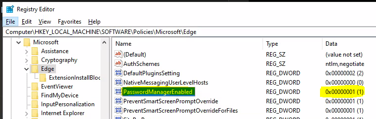 Registry Level Troubleshooting for Intune Security Policy Deployment