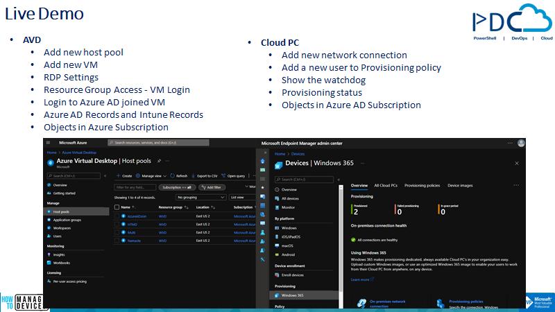 AVD Vs. Cloud PC Technical Comparison