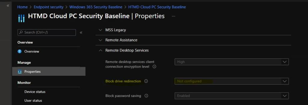 Configure Cloud PC RDP Properties using Intune Settings Catalog 1