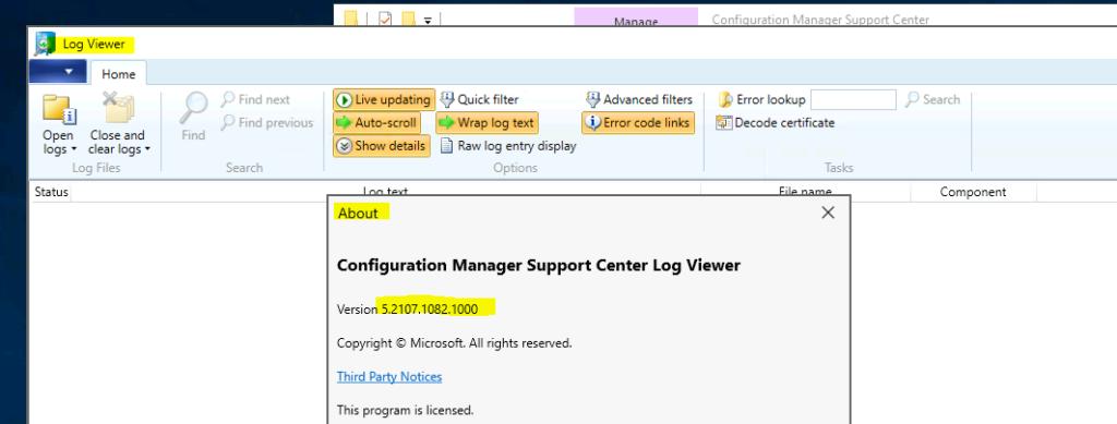 CMLogViewer.exe -  Support Center Log File Viewer