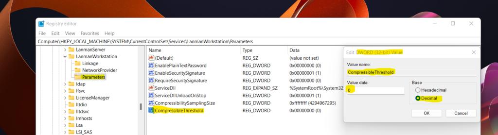 Windows 11 SMB compression improvements