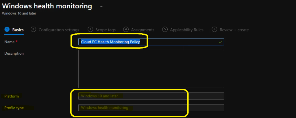 Create Intune Data Collection Policy