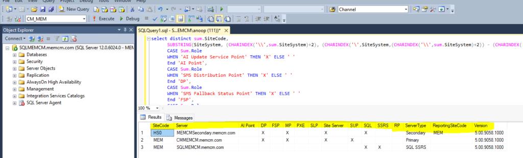 Download SQL Query for SCCM Server Infra Details Custom Report