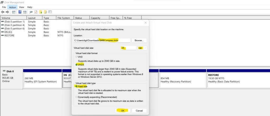 Configure Windows 11 SMB compression improvements to Compress File Aggressively 4