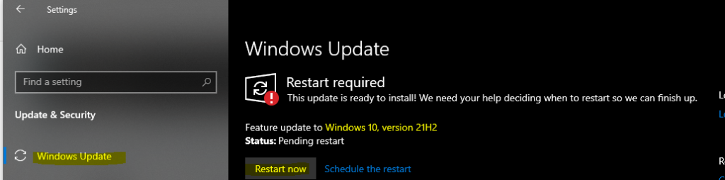 Windows 10 21H2 Deployment Options for Commercial Preview Build