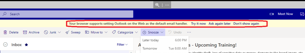 Outlook Web App OWA instead of Outlook Desktop App 4 Months Experience