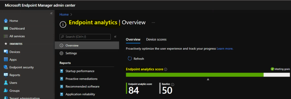 Cloud PC Monitoring Health Performance Using Endpoint Analytics Intune 1