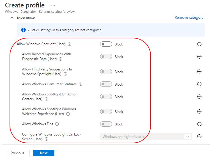 Allow Windows Spotlight - Block