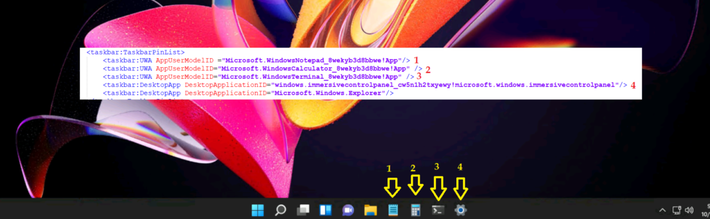 Windows 11 Taskbar Customization Using Intune MEM 3