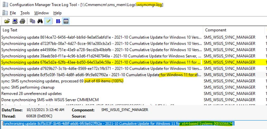 Understanding WSUS Update Sync Process for Windows 11