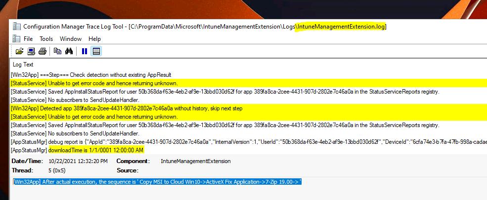 ClientHealth.log - IME Intune Logs  IntuneManagementExtension.log - Intune Application Management Log File