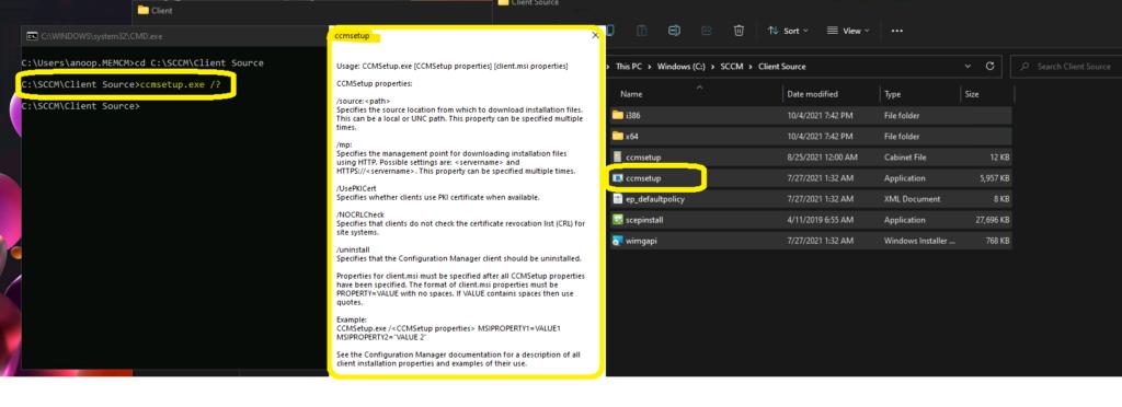 SCCM Client Installation parameters for Windows 11