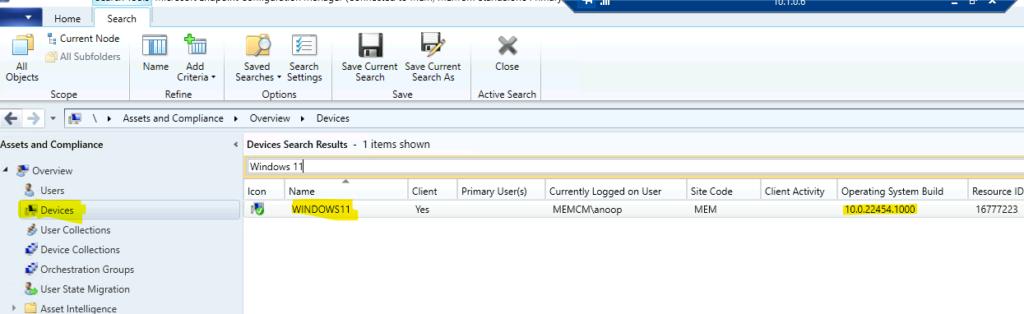 Results of Windows 11 SCCM Client Installation