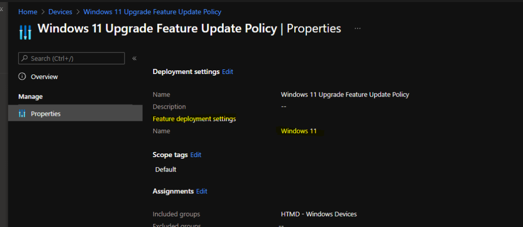 Upgrade to Windows 11 using Intune Feature Update Deployment Policy 1