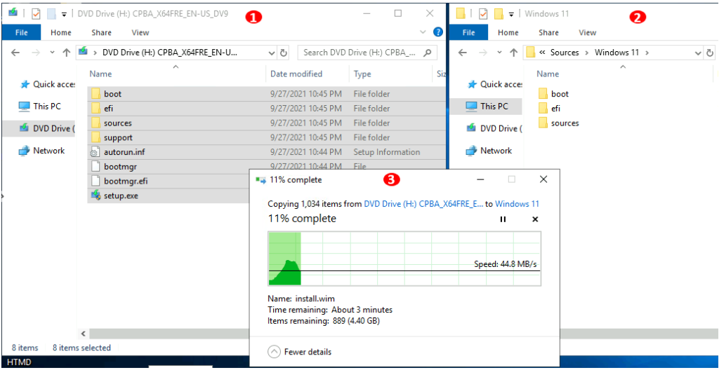 Copying Windows 11 Files to SCCM Server Source